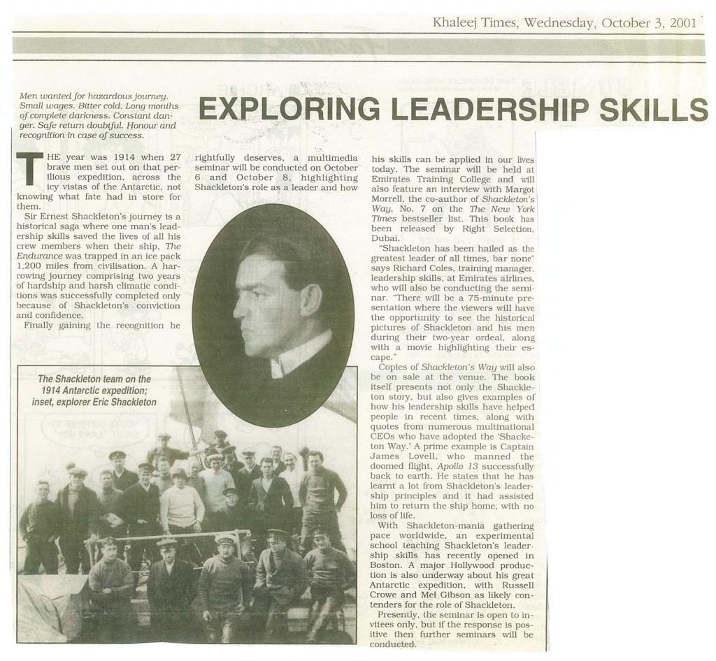 leadership case study of ernest shackleton