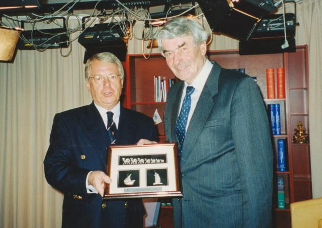 Richard with Ruud Lubbers