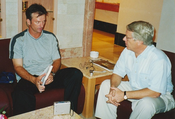 Meeting Steve Waugh, legendary former Australian cricket captain.